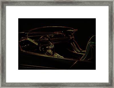Luxury Sport Car Illustration Framed Print