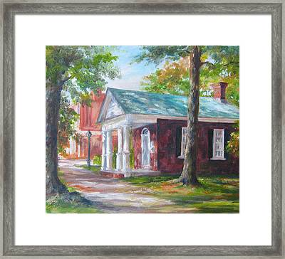 Framed Print featuring the painting Lyceum by Gloria Turner