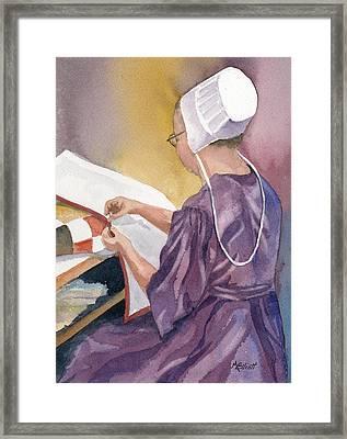 Lydia Framed Print by Marsha Elliott
