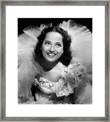 Lydia, Merle Oberon, 1941 Framed Print