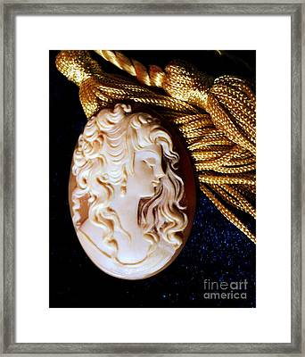 Lydia's Cameo Framed Print by Padre Art