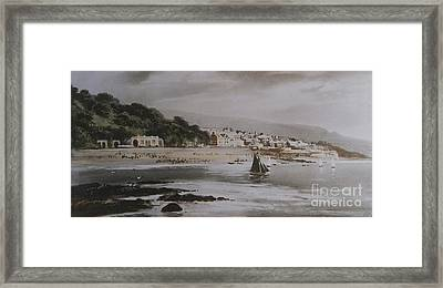 Framed Print featuring the photograph Lyme Regis by Gary Bridger