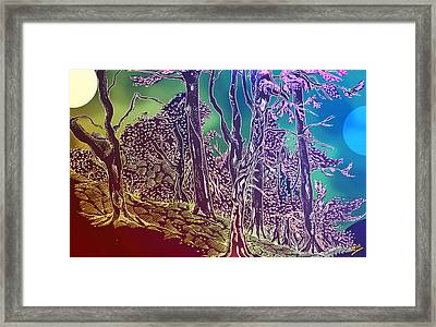 Lymphoy Fantasy Sketch Framed Print by Grant  Wilson