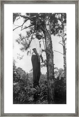 Lynched African American Man Hanging Framed Print by Everett
