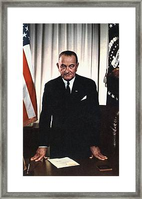 Lyndon Johnson 1908-1972, U.s Framed Print by Everett