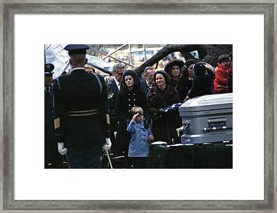Lyndon Johnson Funeral. Lyn Nugent Framed Print by Everett
