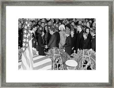 Lyndon Johnson Funeral. President Nixon Framed Print