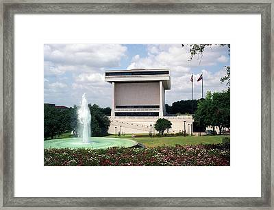 Lyndon Johnson Library And Museum Framed Print by Everett