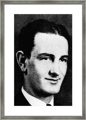 Lyndon Johnson Portrait In The 1930 Framed Print by Everett