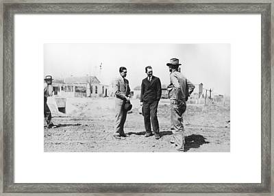 Lyndon Johnson Visiting A National Framed Print by Everett