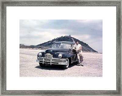 Lynn And His Packard Framed Print by Lynn Bawden
