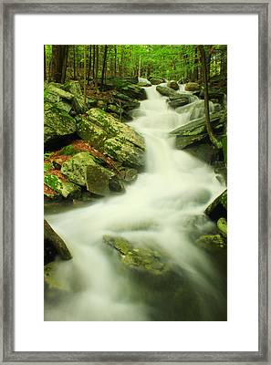 Lynne's Falls Hidden Valley Wendell State Forest Framed Print by John Burk