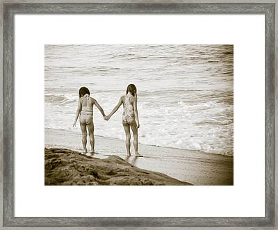 M Is For Memories Framed Print by Trish Tritz