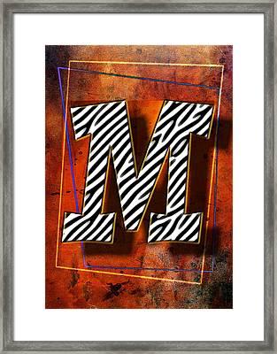 M Framed Print by Mauro Celotti