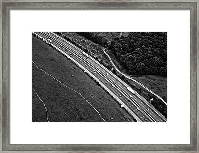 M25 Motorway/highway From Air Framed Print