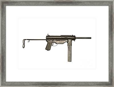 M3a1 Submachine Gun, 45 Caliber Framed Print by Andrew Chittock