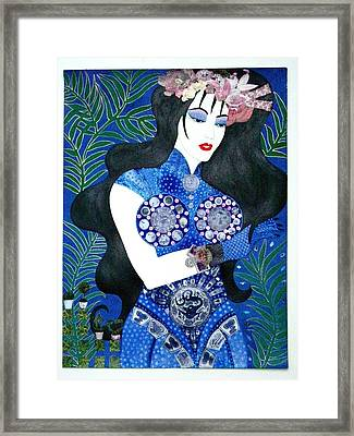 Ma Belle Salope Chinoise No.11 Framed Print by Dulcie Dee