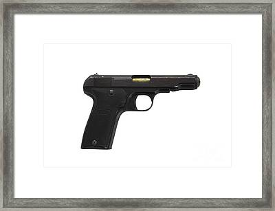 Mab Model D French Police Issue Pistol Framed Print by Andrew Chittock