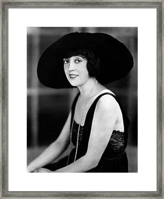 Mabel Normand, 1921 Framed Print by Everett