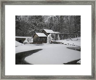 Mabry Mill On Ice Framed Print by Diannah Lynch