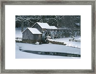 Mabry Mill Winter Framed Print