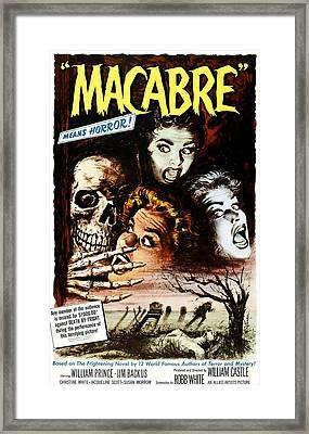 Macabre, 1958 Framed Print by Everett