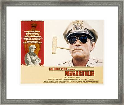 Macarthur, Gregory Peck, 1977 Framed Print by Everett