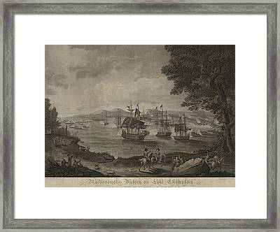 Macdonoughs Victory On Lake Champlain Framed Print by Everett
