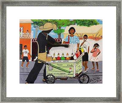 Machan Fresco Framed Print by Nicole Jean-Louis