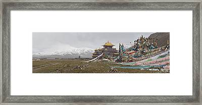 Machen Lhagong Monastery. A Newly Framed Print by Phil Borges