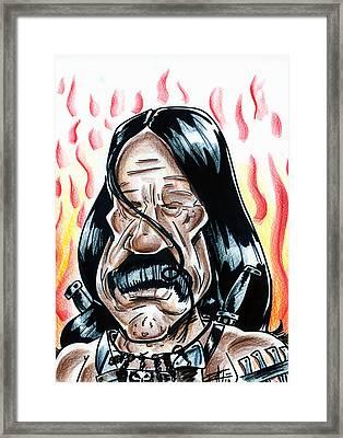 Machete Framed Print by Big Mike Roate