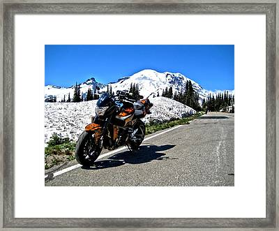 Framed Print featuring the photograph Machine And Nature by Rob Green