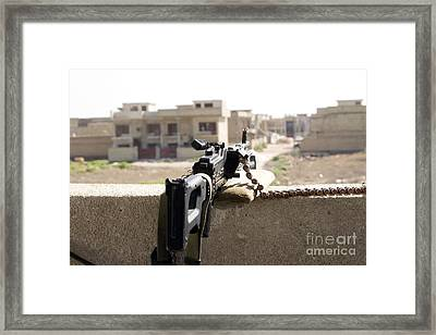 Machine Gun Post At A Prison Framed Print by Terry Moore