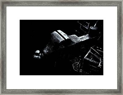 Framed Print featuring the photograph Machine Vise by Tom Singleton