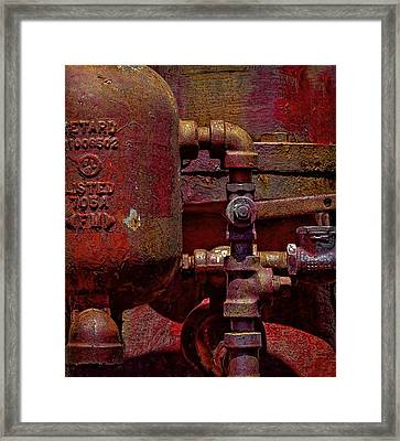 Machinery Grunge Framed Print