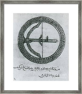 Machinery Of War, Shield-cum-bow, 12th Framed Print by Photo Researchers