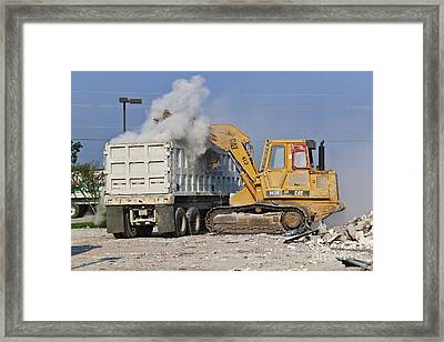 Machines Clearing Debris Framed Print by Jeremy Woodhouse