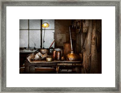Machinist - Tool - Got Oil  Framed Print by Mike Savad
