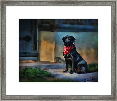 Mack Waits Framed Print