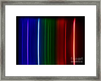 Macro Krypton Spectra Framed Print by Ted Kinsman