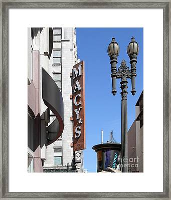 Macys Department Store In San Francisco Framed Print by Wingsdomain Art and Photography