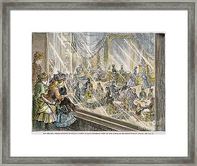 Macys Holiday Display, 1876 Framed Print by Granger
