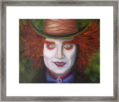 Mad As A Hatter Framed Print by Thea Wolff