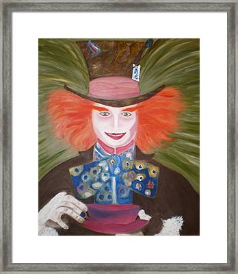Mad Hatter  Framed Print by Shannon Schow