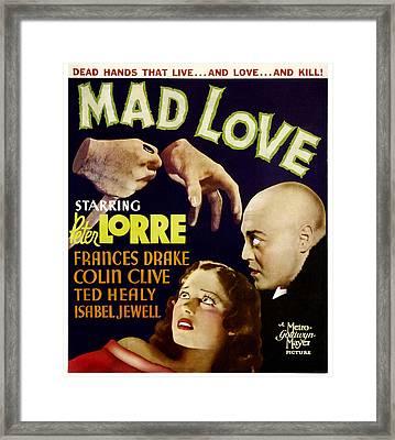 Mad Love, Frances Drake, Peter Lorre Framed Print