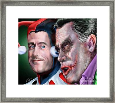 Mad Men Series  4 Of 6 - Romney And Ryan Framed Print by Reggie Duffie