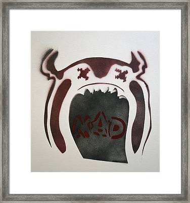 Mad O Rama Dark Red Framed Print by Patricia Arroyo