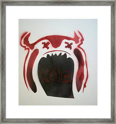 Mad O Rama Flamin Red Framed Print by Patricia Arroyo