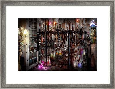 Mad Scientist - Essence Of Life Machine Framed Print