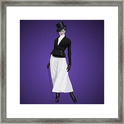 Madame Framed Print by Roman Zaric